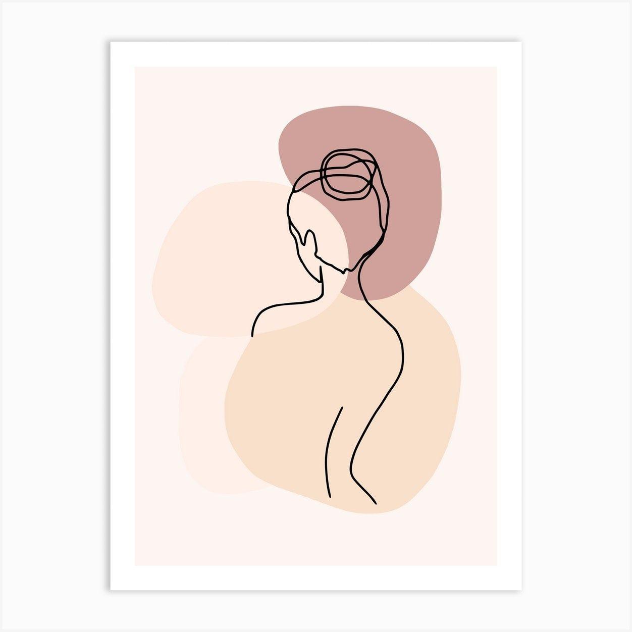 Woman Fine Line Piece