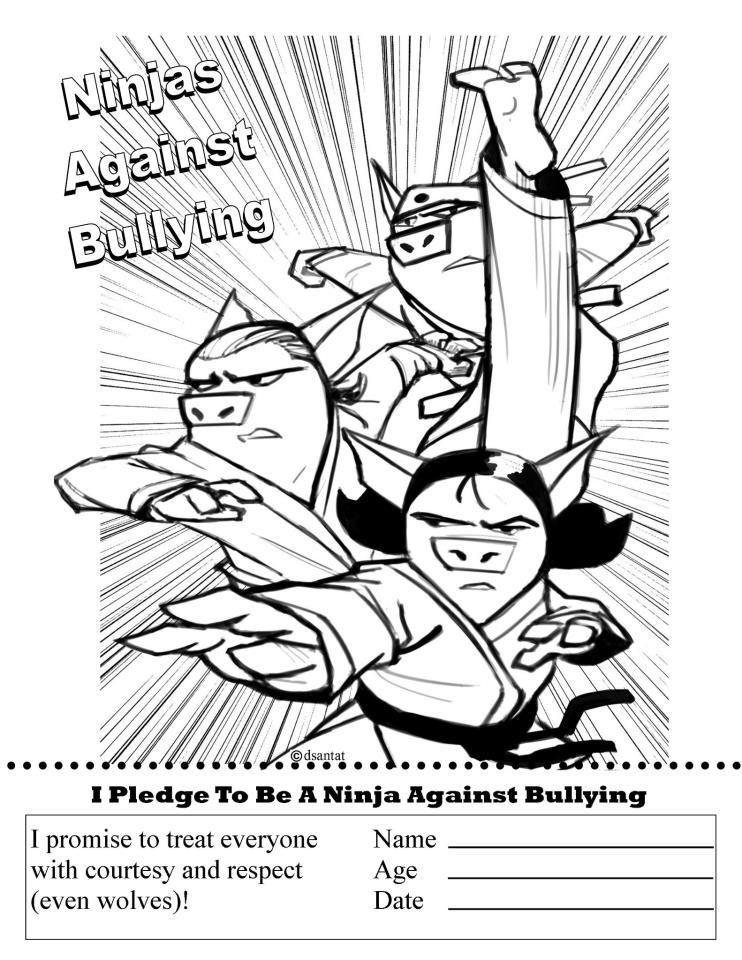 Free Coloring Page By Dan Santat For Anti Bullying Month