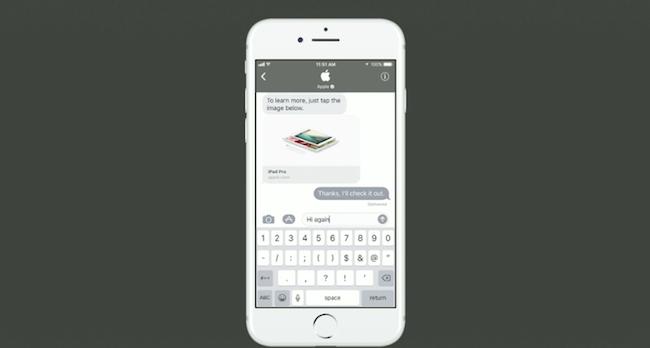 Face à Facebook Messenger, Apple veut attirer les marques