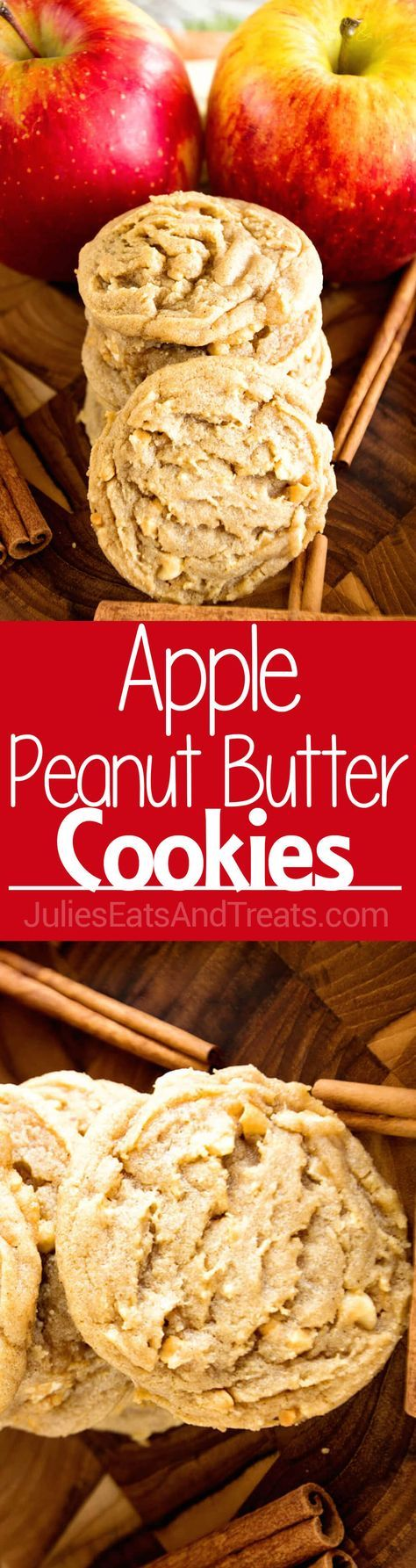 Apple Peanut Butter Cookie Delicious, Soft, Chewy Cookie