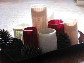 Sweater vases! Or candle holders?