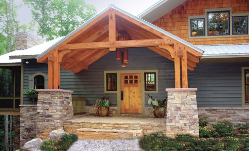 Love The Front Porch Craftsman Homes Always Look So Cozy