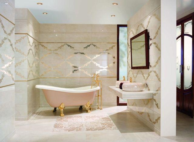 Fantastisch Luxus Bad Fliesen  Keramik Repräsentative Großformate Extrem Modische Highlights Gold