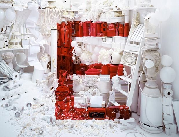Red E installation by Nicola Yeoman