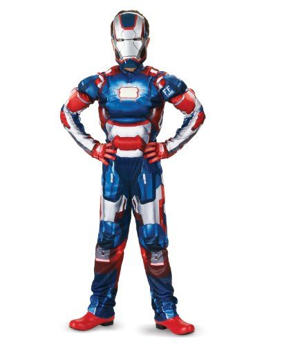 Marvel Iron Man 3 Patriot Boys Classic Muscle Costume -   plus - halloween costumes ideas for men