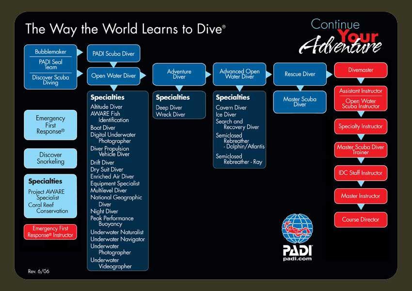 padi diving scuba chart flow ed con wordpress samui