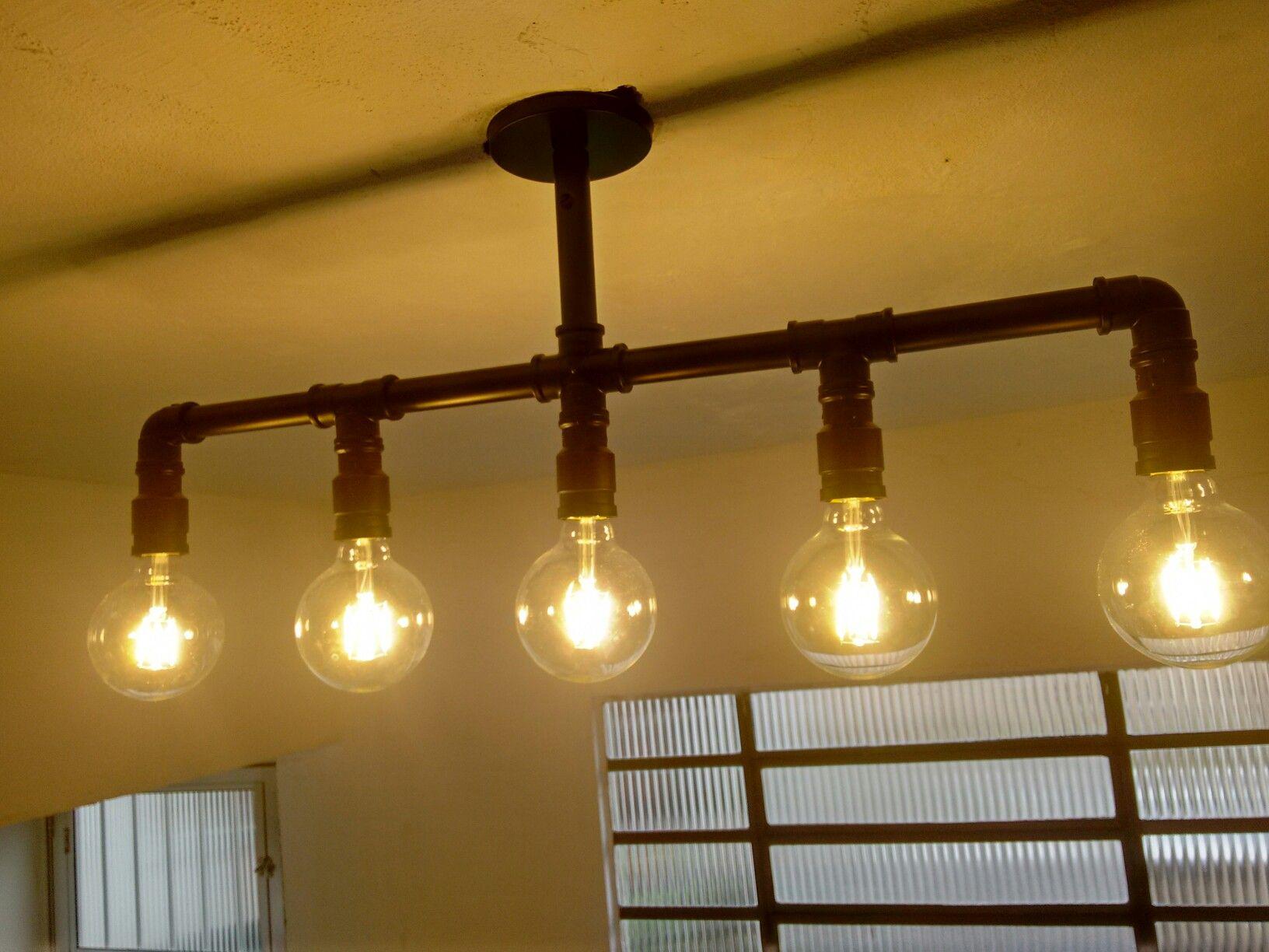 tubo e conexes pvc lmpada led filamento nova luminria d cozinha