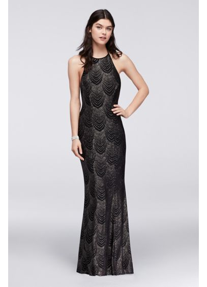 e4f6b11ed648 Glitter Knit Halter Dress with Low Back X34311J446 | photoshoot ...