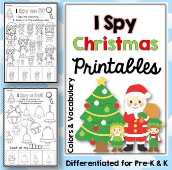 Christmas Coloring Pages I Spy Christmas Coloring Pages Christmas Literacy Activities Christmas Worksheets