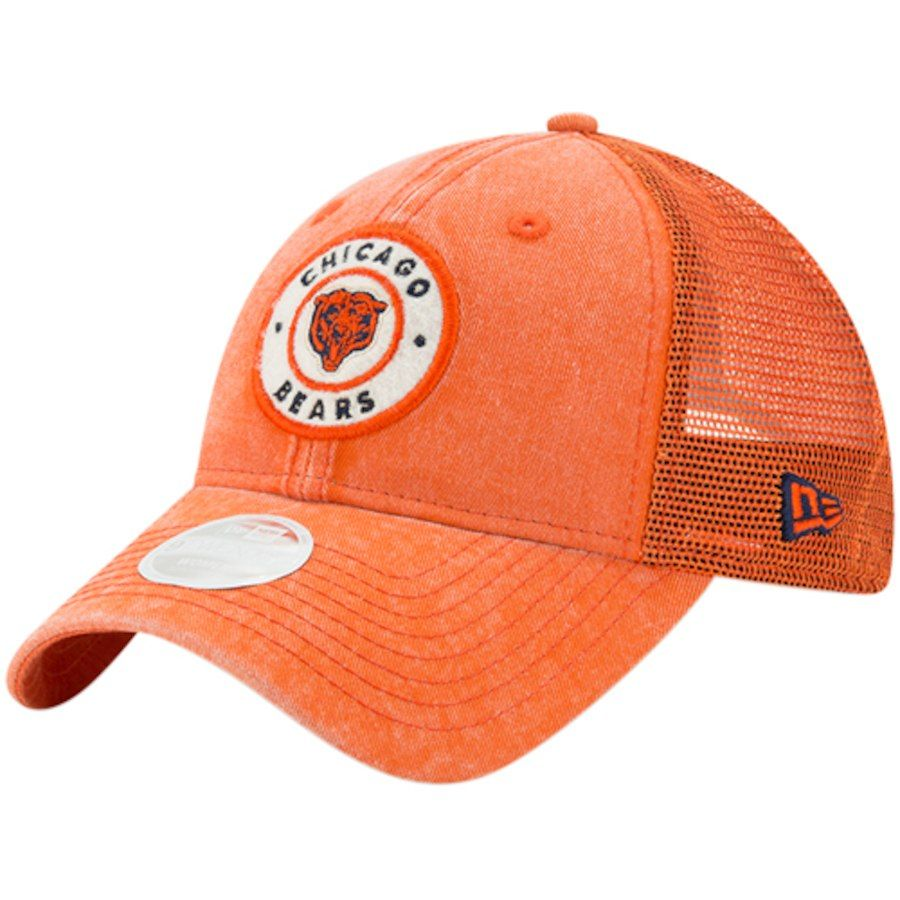 96b2877cacd Women s Chicago Bears New Era Orange Perfect Patch 9TWENTY Adjustable  Snapback Hat