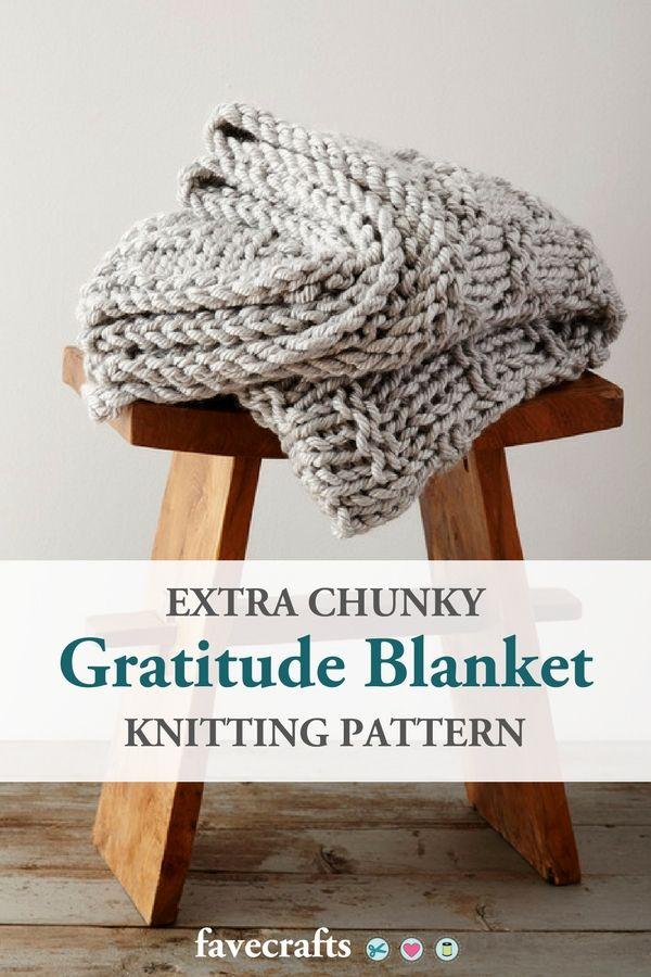 Extra Chunky Gratitude Blanket   Easy scarf knitting ...
