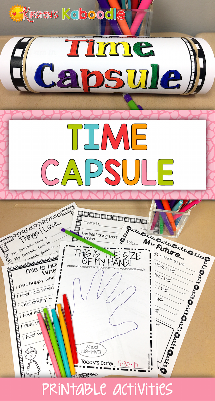 This time capsule product can be used for the beginning of