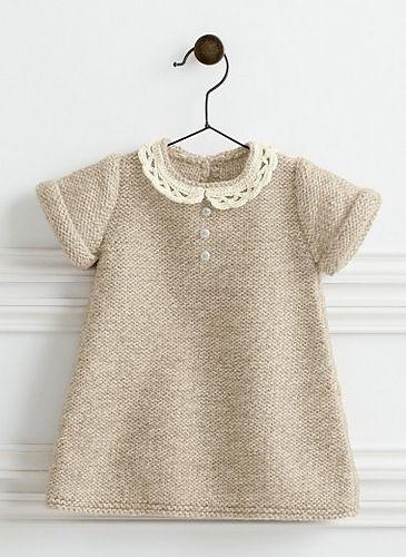 782 Lace Collar Dress Pattern By Bergre De France Knit Small