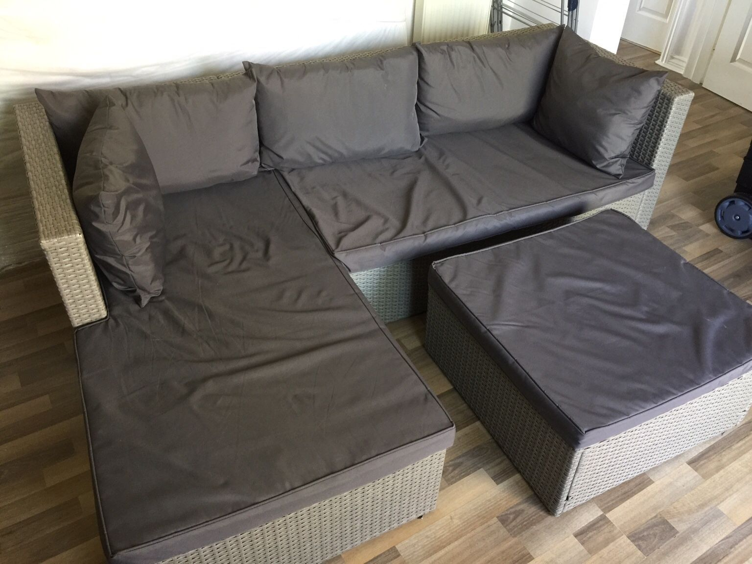 Aldi Rattan Effect Corner Sofa Cover In 2020 Corner Sofa Set Sofa Set Corner Sofa Covers