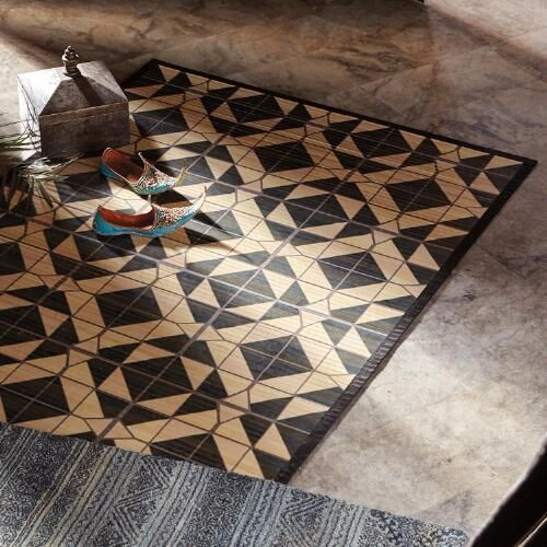 Sustainably Handcrafted Of Raw Bamboo With A Fabric Border Our Exclusive Natural Fiber Rug Is