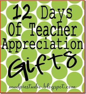 What a fantastic Christmas gift idea for all of the teachers in your kids' lives: 12 Days of ...