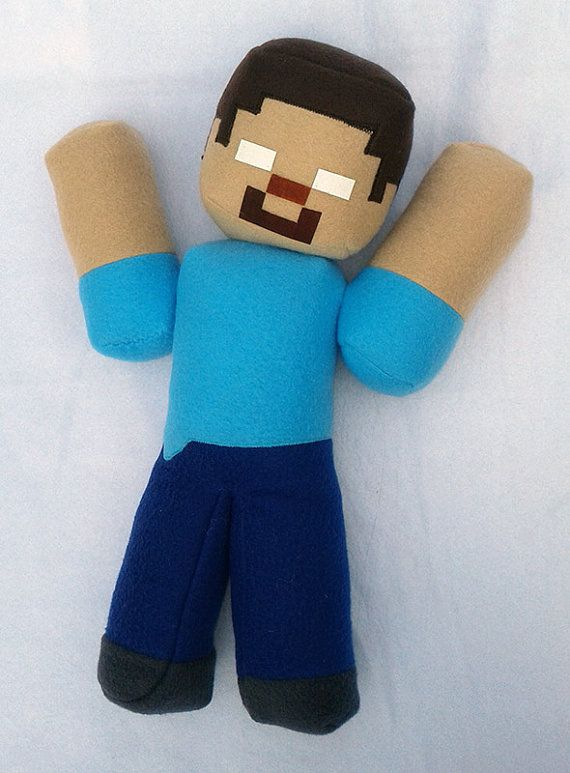 12 Inch Jointed Herobrine with Glow Eyes Plush Toy
