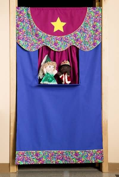 Bring the theater home with you! Sewing pattern, doorway puppet ...