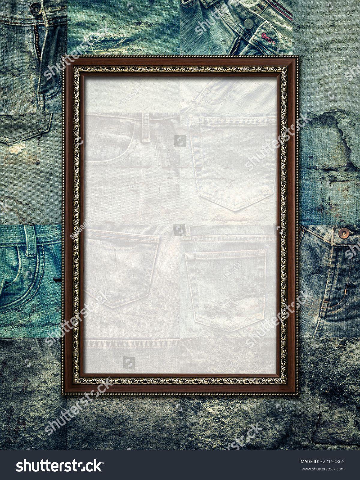 Vintage Picture Frame On Collage Set Of Rotten Jeans Background Sponsored Sponsored Frame Collage Vin In 2020 Vintage Picture Frames Leaf Texture Collage Vintage