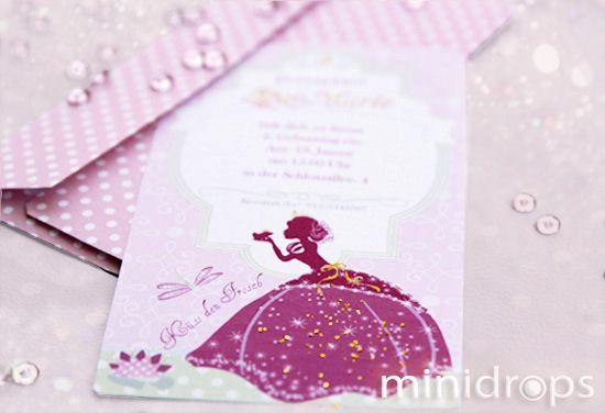 Einladung Zur Prinzessinparty   Kindergeburtstag // Princess Invitation // # Kindergeburtstag #Prinzessin #