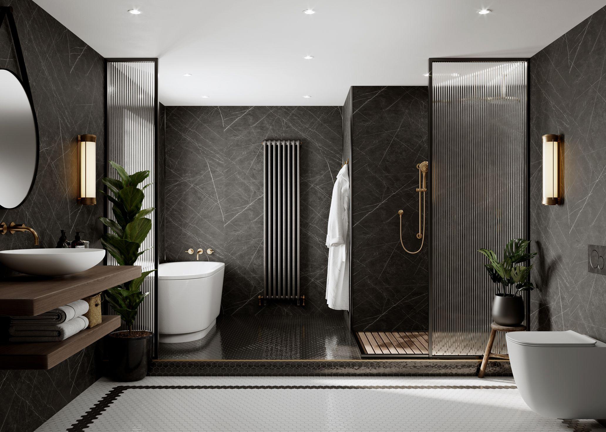 Black Marble Bathrooms In 2020 Black Marble Bathroom Bathroom Design Luxury Hotel Bathroom Design