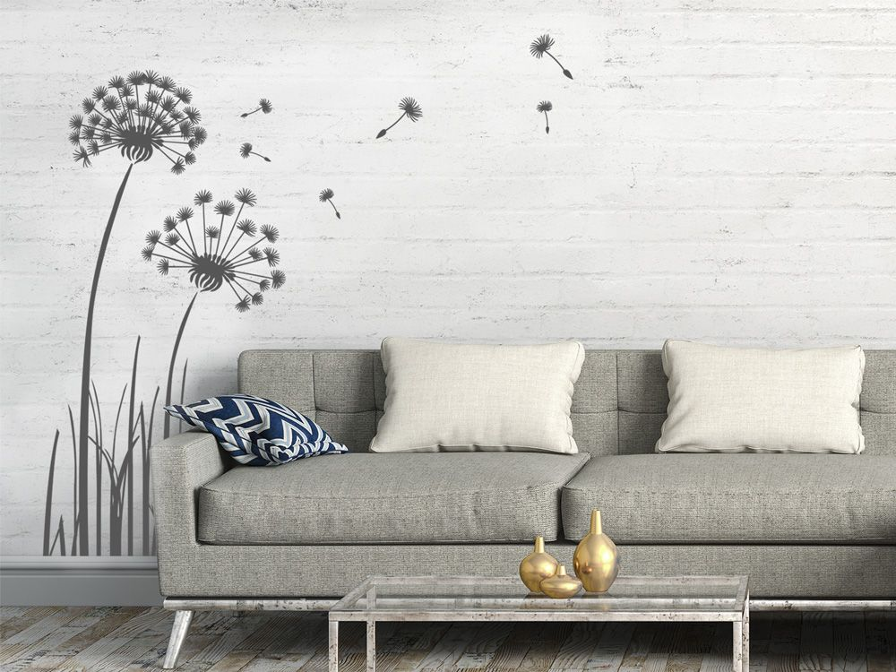 Wandtattoo Pustebluem für die Wand im Wohnzimmer Wandtattoos für - wandtattoo fürs schlafzimmer