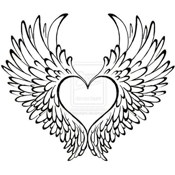 Heart With Wings Tattoo By Metacharis Liked On Polyvore