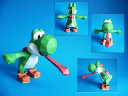 yoshi-papercraft-tongue-out