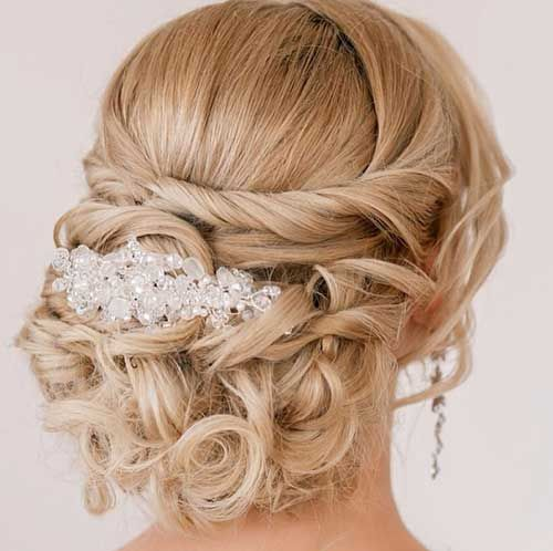 Long Curly Hair Wedding Updos