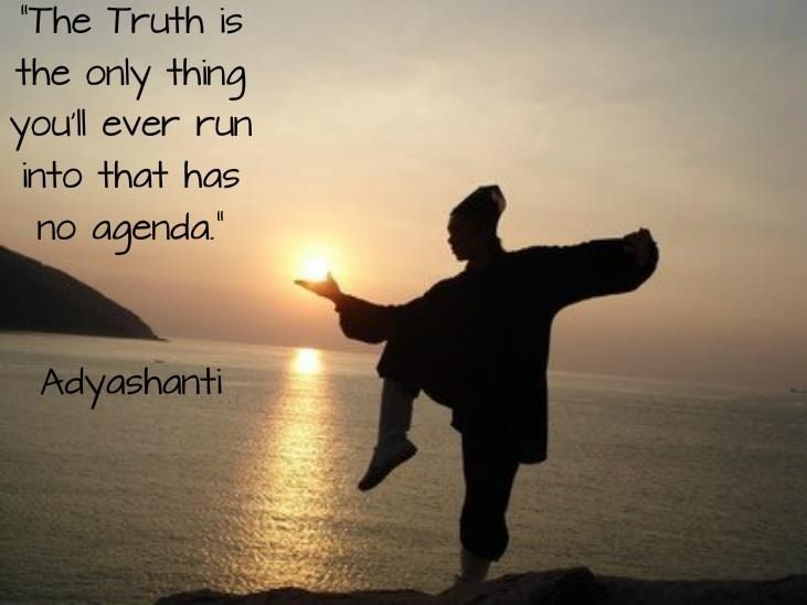 The Truth Is The Only Thing You'll Ever Run Into That Has No Agenda New Adyashanti Quotes