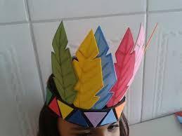 Resultado de imagen para gorros de indio en goma eva para cumpleaños ... f3dab078319