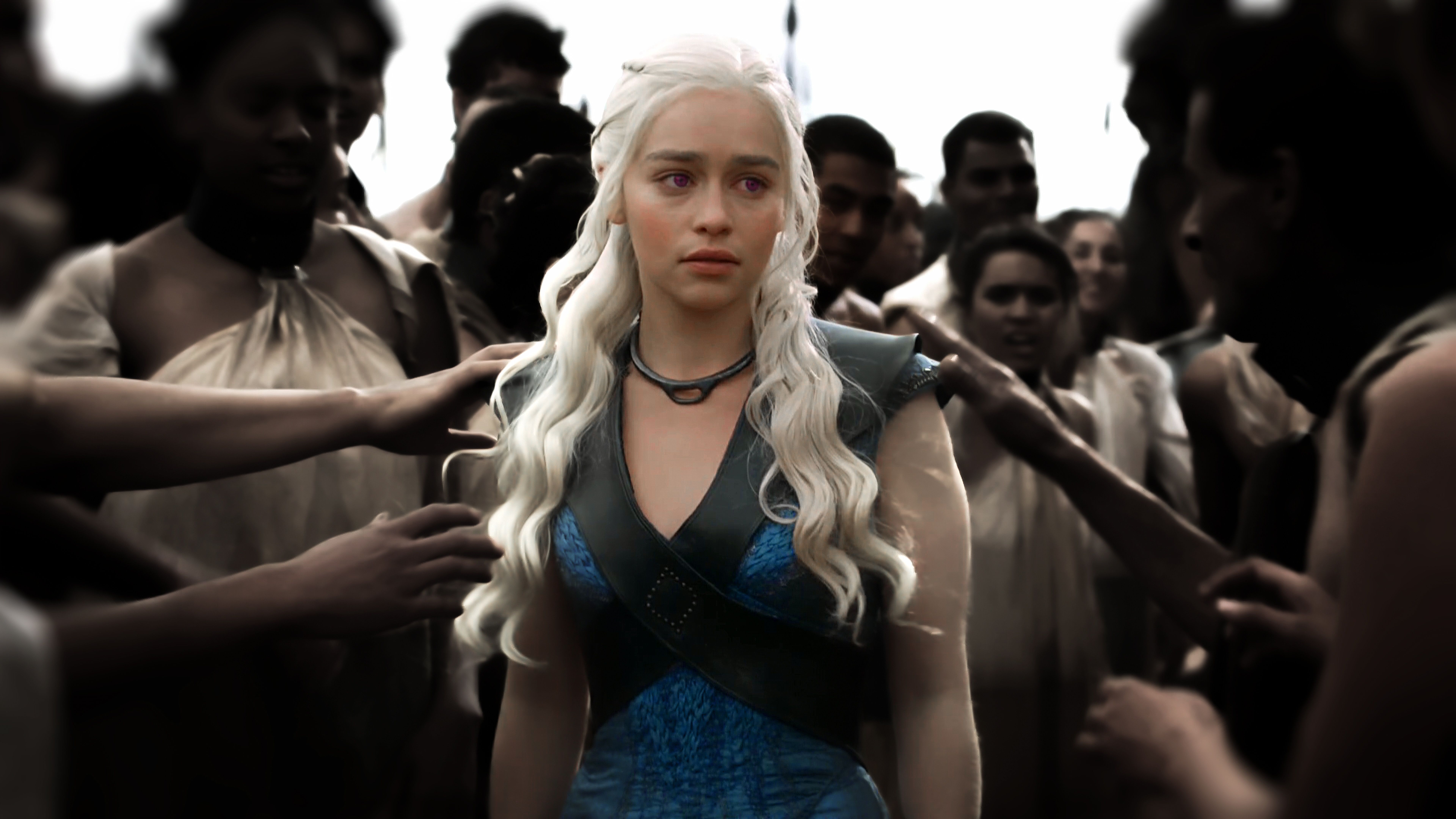 Khaleesi Freeing Slaves 7680x4320 Daenerys Costume Faceless Men Sansa Stark