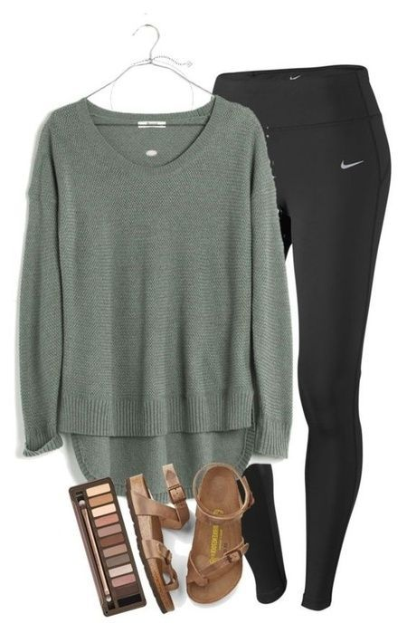 Fashion Look Featuring Maison Jules Sweaters and Nike Activewear by ExploringLifeTogether - ShopStyle
