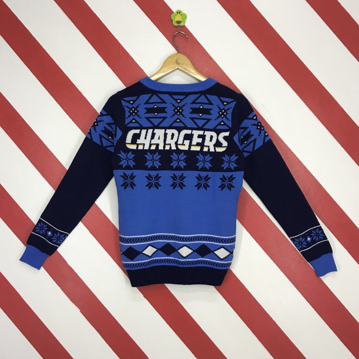 newest collection d9af3 4ff34 Vintage Los Angeles Chargers Knitwear Snowflake Style Knit ...