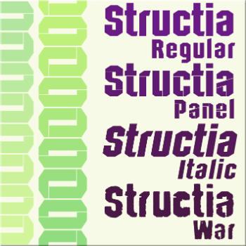 iCLIPART Structia Font Download fonts, Truetype fonts