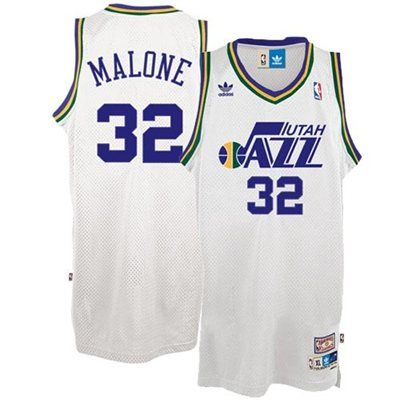 743de07c Mens Utah Jazz Karl Malone adidas White Hardwood Classics Soul Swingman  Throwback Jersey