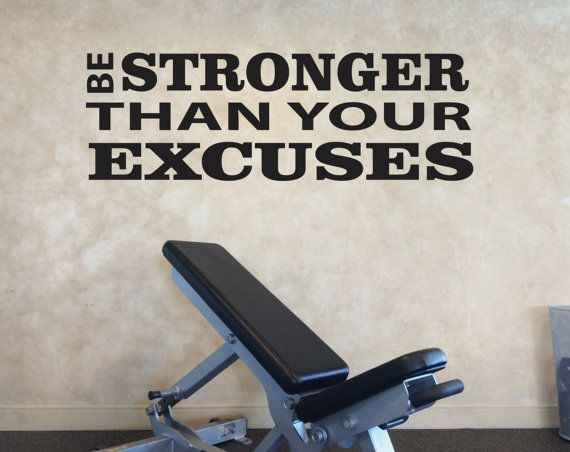 Gym design wall decal decorating ideas quote