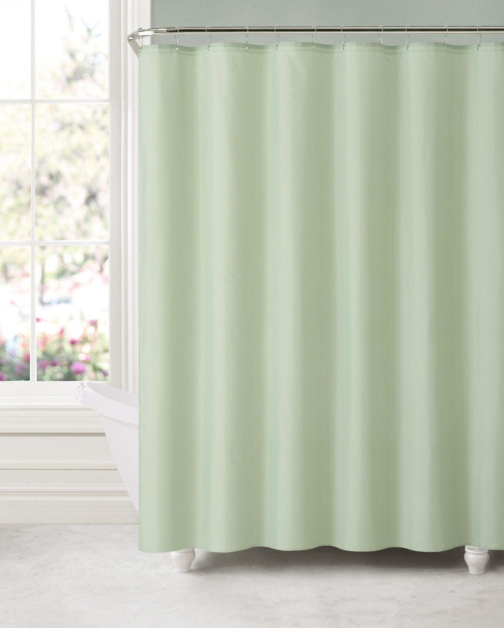 Royal Bath Sage Green Water Mildew Resistant Fabric Shower