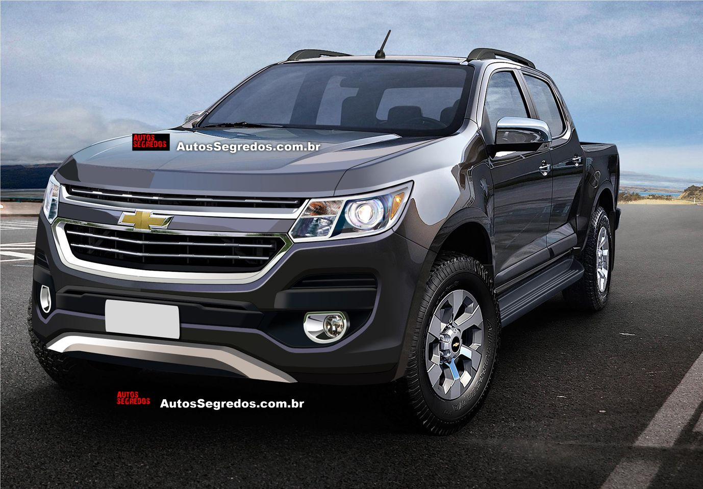 Here s a render of the 2017 chevrolet chevrolet colorado the pickup s first mid cycle facelift which will launch in
