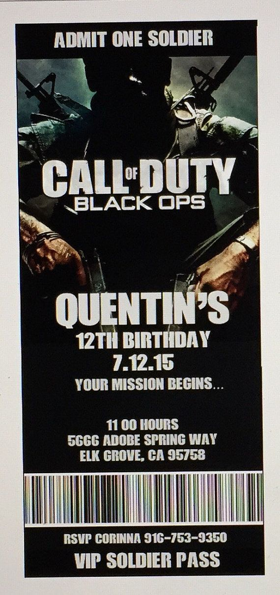 Call of duty birthday invitations xboxps3 birthday party call call of duty birthday invitations xboxps3 birthday party call of duty printable invitation black ops invitations printable pdf file filmwisefo Image collections