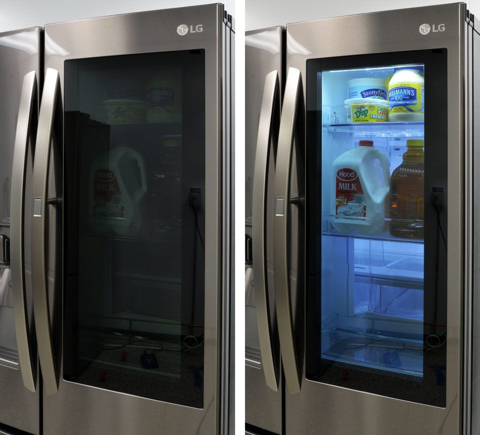 Does A New Low Price Mean You Should Buy This See Through Fridge From Lg Glass Door Refrigerator Glass Fridge Glass Door