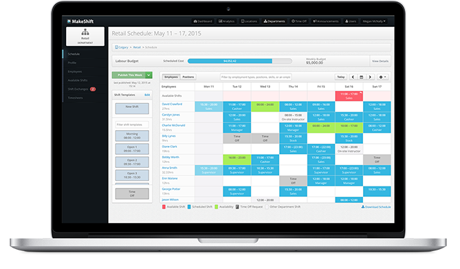 online employee scheduling software  staff scheduling