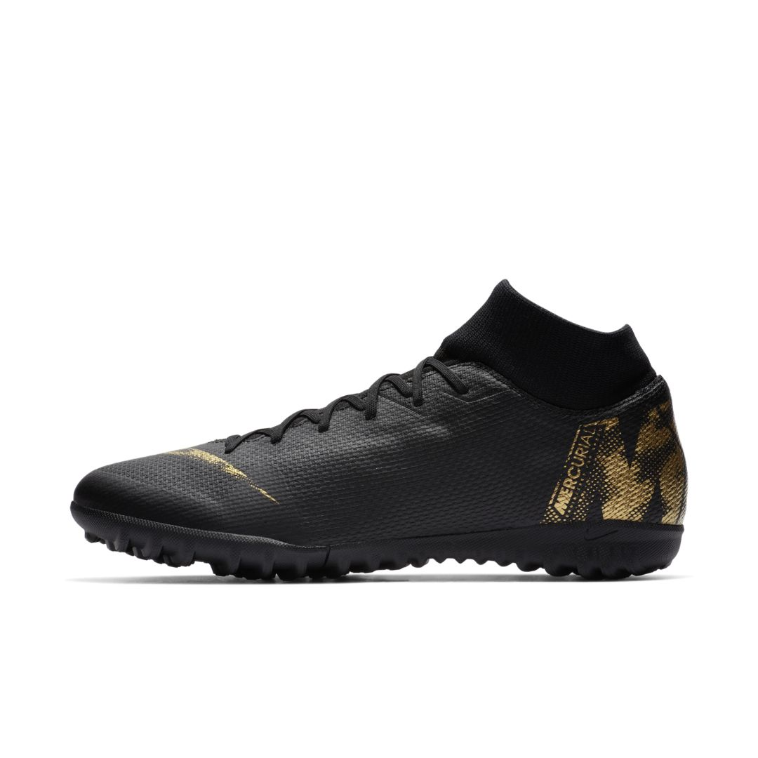 aaaebc405e9 Nike SuperflyX 6 Academy TF Artificial-Turf Soccer Cleat Size 10.5 (Black)