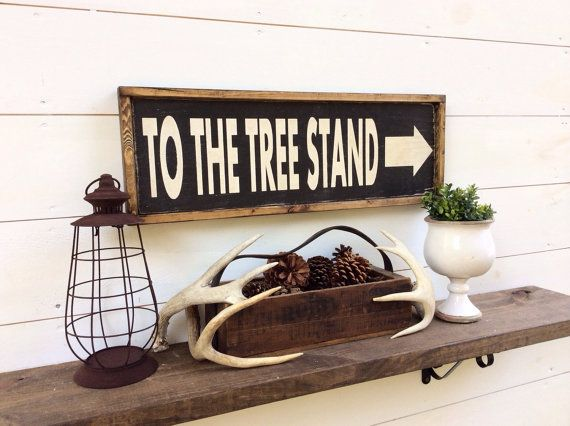 Rustic Man Cave Sign : To the tree stand sign hunting cabin lodge man cave