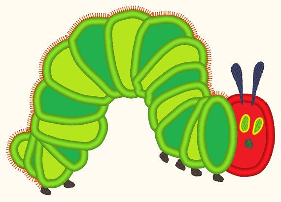 The Very Hungry Caterpillar Applique Embroidery For Machine Design 3