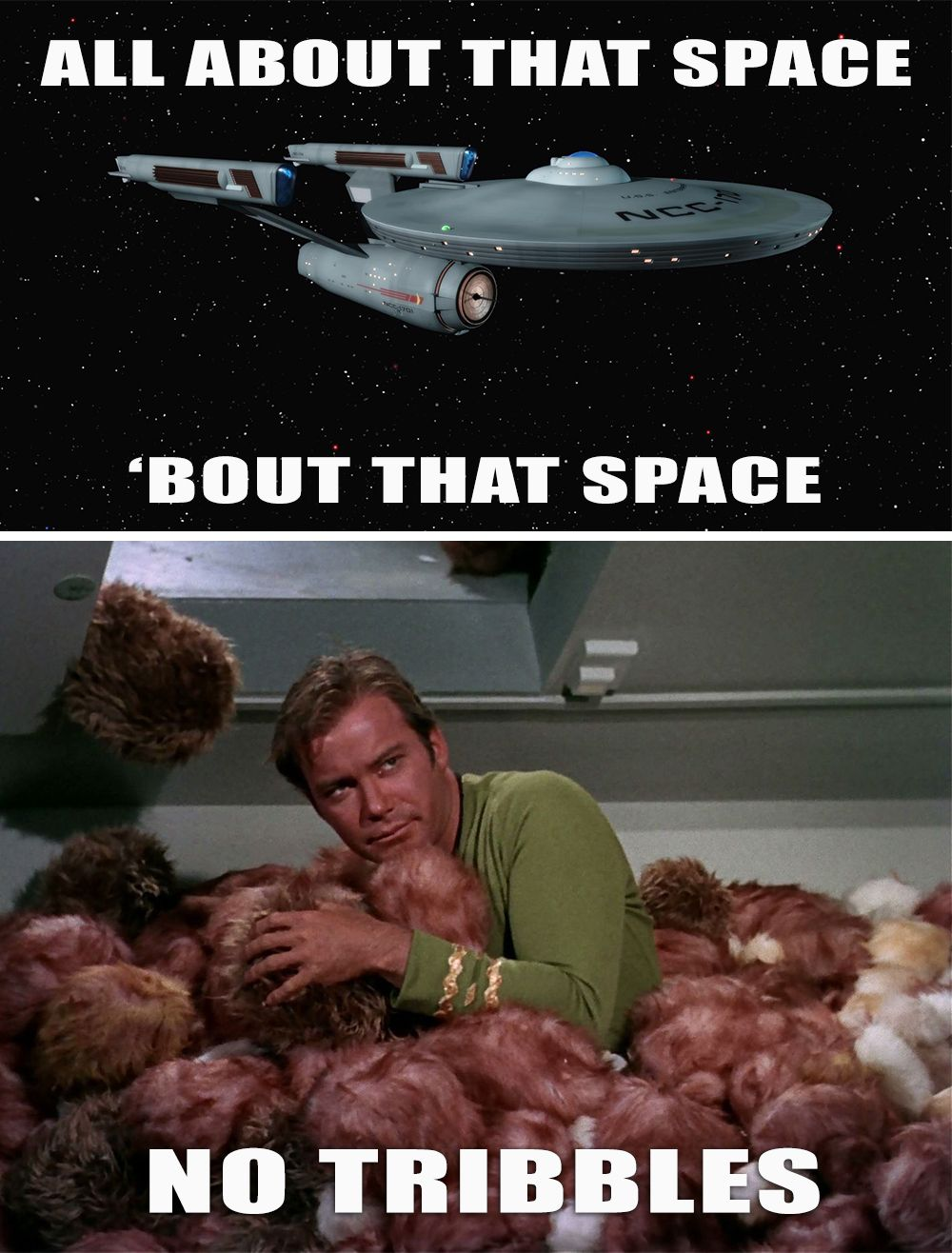 Because I'm All About that Space No Tribbles. Star