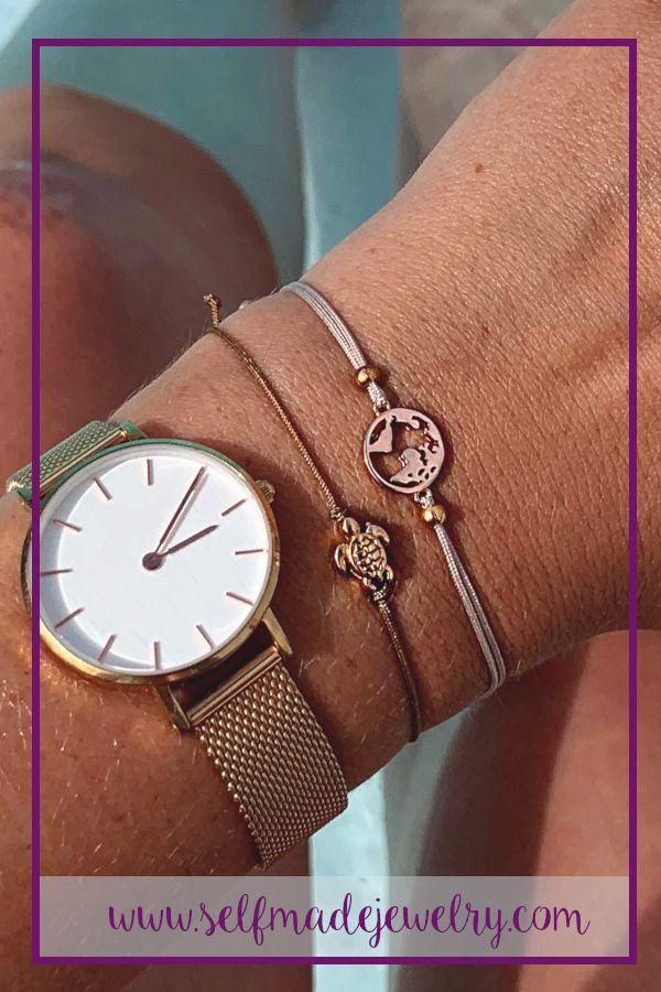 Das filigrane Schildkröten Armband in Rosegold Brau ist ein wunderbares Geschenk zum Geburtst Das filigrane Schildkröten Armband in Rosegold Brau ist ein wunder...