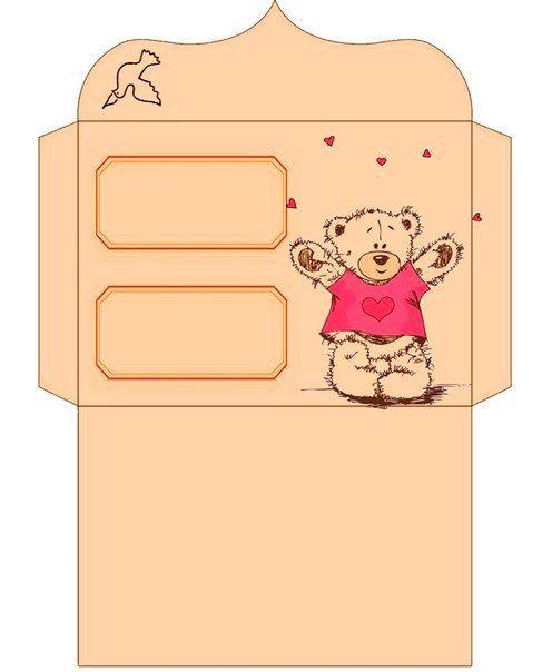 8 schöne Briefumschläge mit Teddy Bear-dekoking-com-6