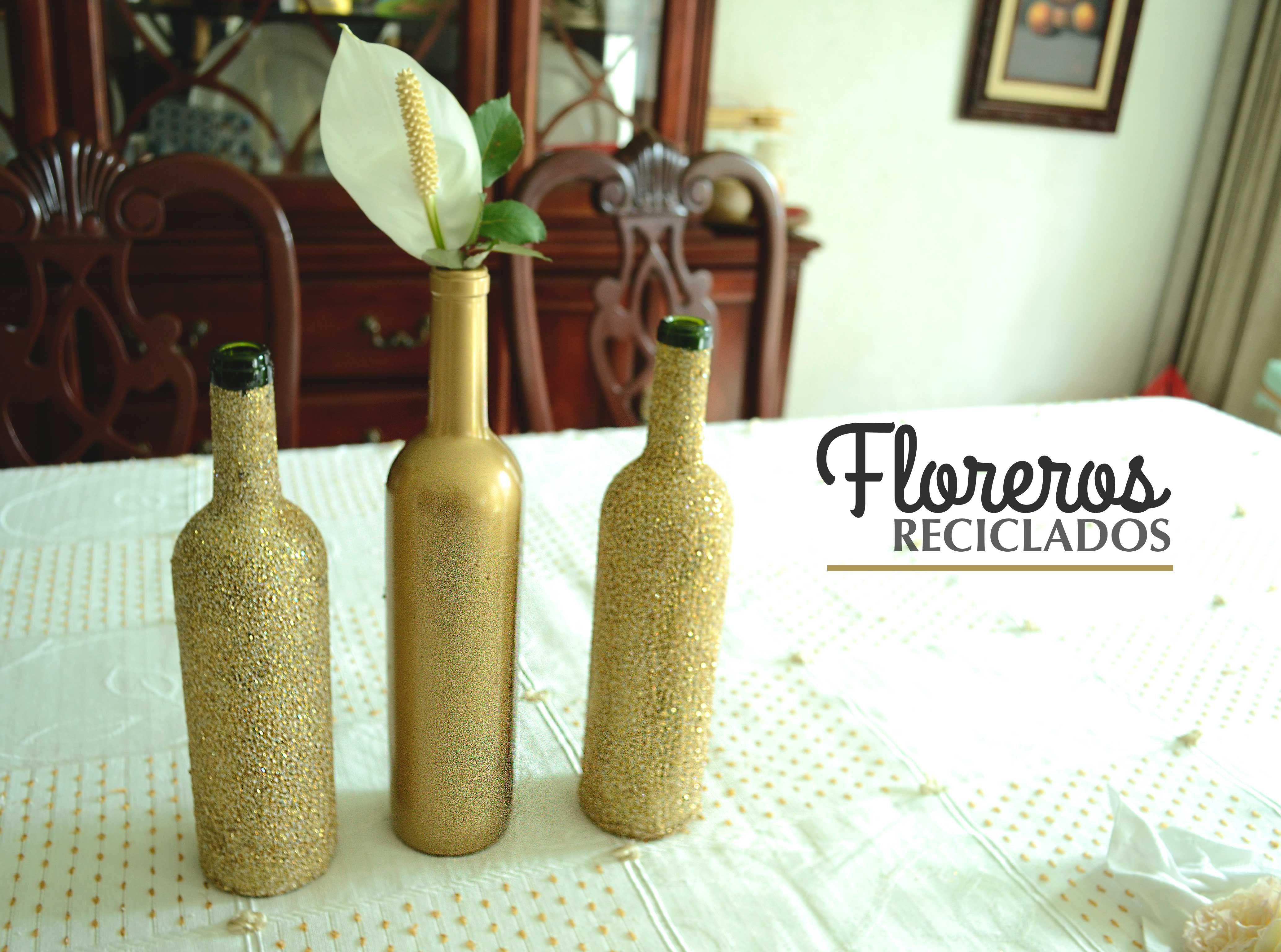 Floreros reciclados de botellas de vidrio buscar con - Que hacer con botellas de vidrio ...