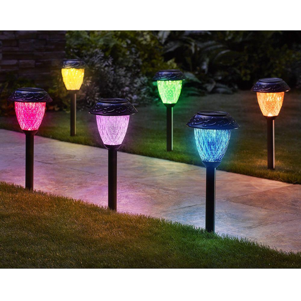 Details about  /New Snowman Solar Power Lights Outdoor LED Garden Lawn Landscape Path Yard Lamps